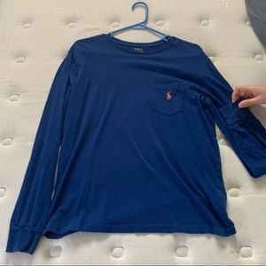 Polo Ralph Lauren long sleeve blue shirt